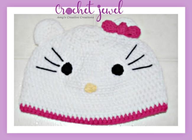 Amys Crochet Creative Creations Crochet Hello Kitty Adult Hat