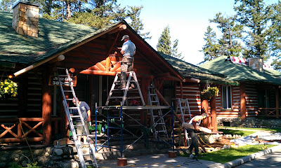 Sitka Log Homes renovation
