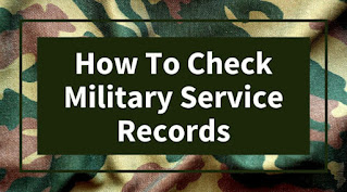 how to check military service records