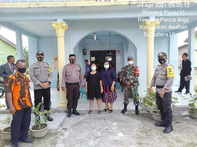 Dalam Rangka Perayaan Paskah, Personel jajaran Kodim 0208/Asahan Bersama Dinas Terkait Laksanakan Pengamanan