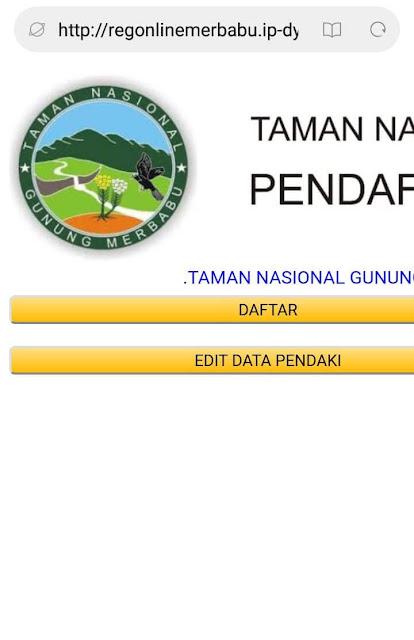 Cara Daftar (Booking) Online Gunung Merbabu
