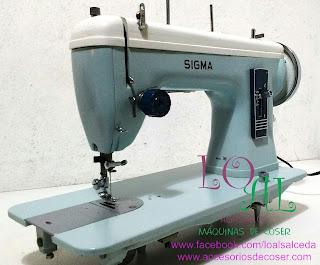 maquina de coser sigma 140