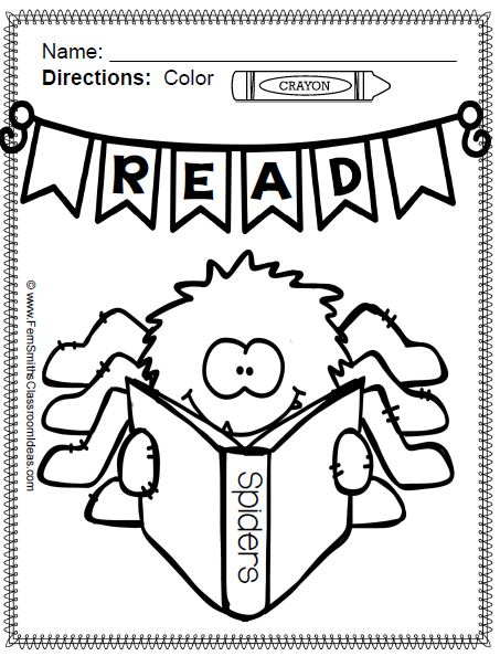 Color For Fun Bats and Spiders Coloring Pages Perfect for