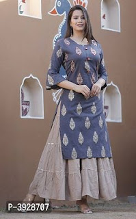 Rayon Kurta With Skirt