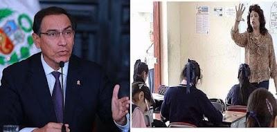 Presidente Vizcarra anuncia aumento de sueldo para profesores en el 2019