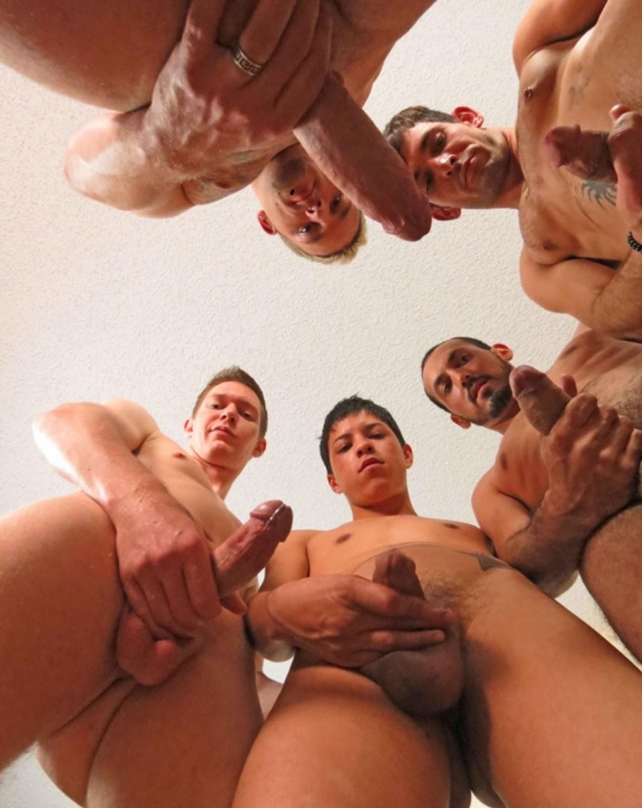 Circle jerk orgy