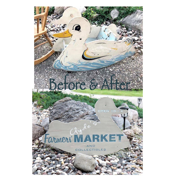 Clyde the Duck Sign From Vintage Rocker Bliss-Ranch.com