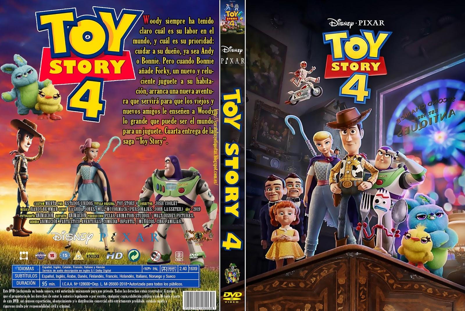 Caratulas Y Etiquetas Toy Story 4