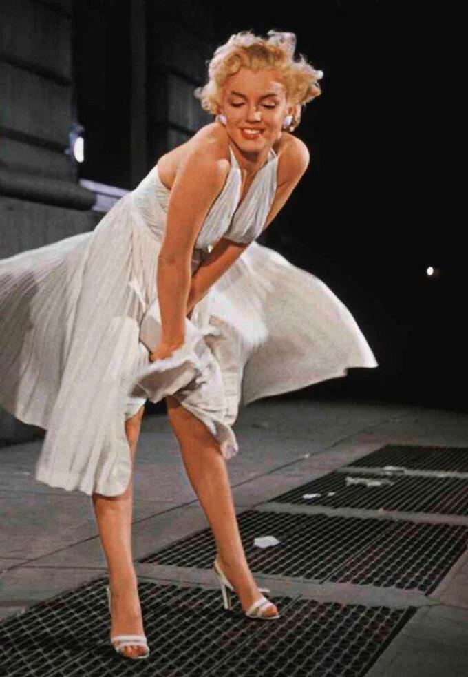 Marilyn Monroe fantasia improvisada de O Pecado Mora Ao Lado