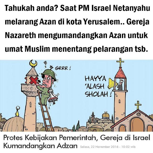 Saat Masjid Dilarang Azan di Israel, Gereja Kumandangkan Azan untuk Umat Islam