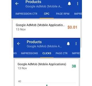 AdMob earnings proof