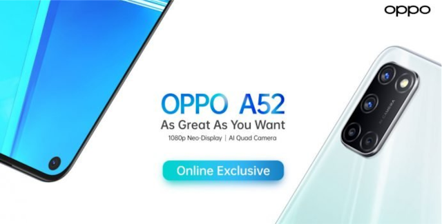 Oppo A52 Sudah meluncur, Ini dia Harganya
