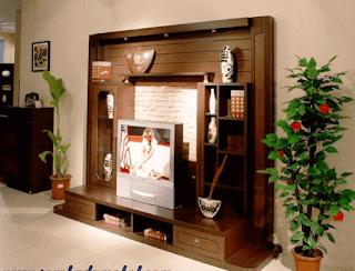 lemari tv kayu jati minimalis