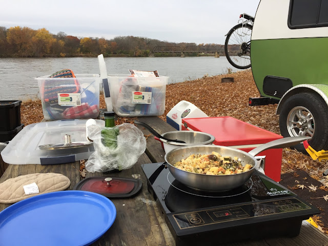 Induction cooking while camping is not affected by the wind.