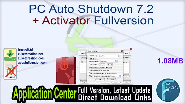 PC Auto Shutdown 7.2 + Activator Fullversion