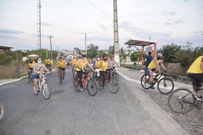 Realizado II Passeio Ciclístico em Defesa da Vida no encerramento do 'Setembro Amarelo' de 2021
