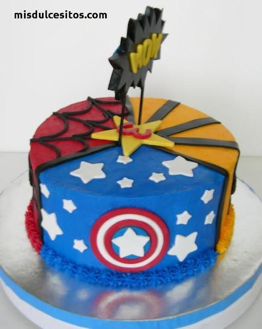 Tortas Avengers. Venta de tortas personalizadas en todo Lima