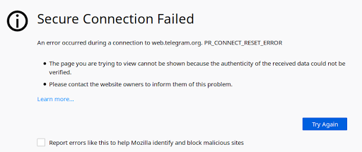PR_CONNECT_RESET_ERROR — Here is what it means & how to fix