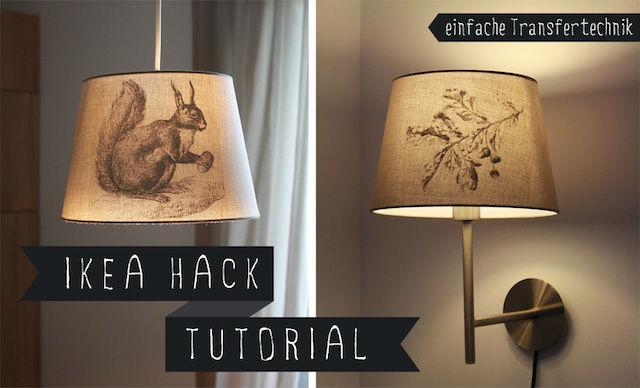 7 DIY para renovar las pantallas de las lámparas. Pantalla de lámpara con dibujos