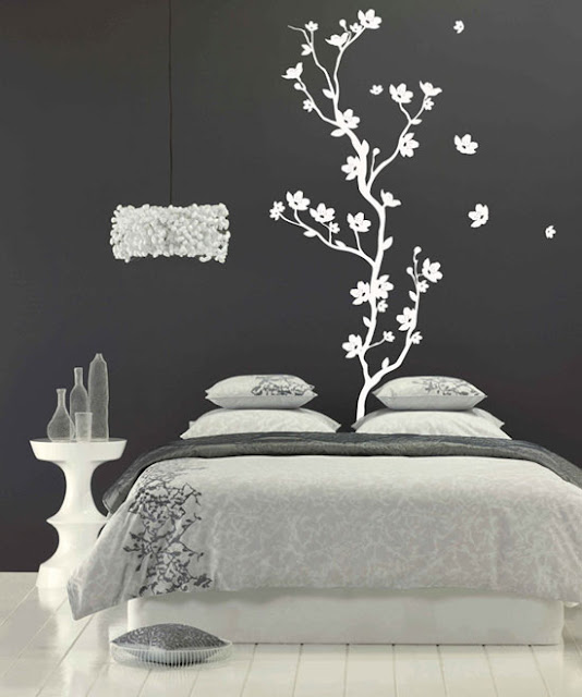 Black And White Paintings For Bedroom Bedroom Sets Black Modern Bedroom Black Bedroom Furniture Sets Pictures: Créatives Idées De Papier Peint Chambre