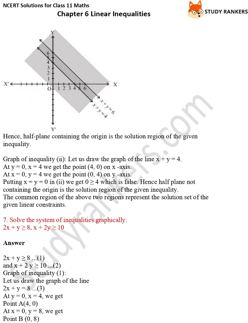NCERT Solutions for Class 11 Maths Chapter 6 Linear Inequalities 22