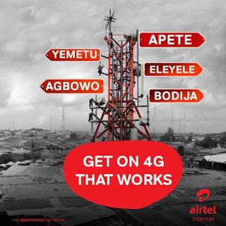 Airtel 4G users Can Now Get Free 4GB Data, 25% Data Bonus and 4GB Data Bonus on MiFi