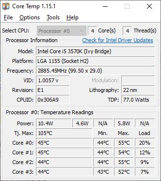 قياس درجة حرارة المعالج فى ويندوز