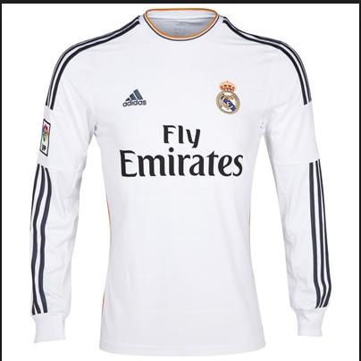0bb0a4553ace9 Venta nueva camisetas de real madrid manga larga 2013-2014 primera  equipacion