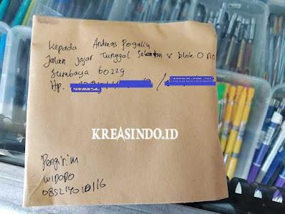 Rel Tiang Bendera Stainless pesanan Bpk Andreas di Surabaya