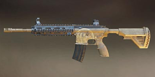 Pubg Mobile M416 skin: Skeleton-Hand