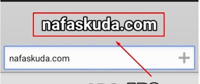 Memasukan Tulisan Nafaskuda.com
