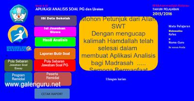 Aplikasi Untuk Analisis Soal Essay Dan Pilihan Ganda (PG) Kurikulum 2013 Plus KTSP