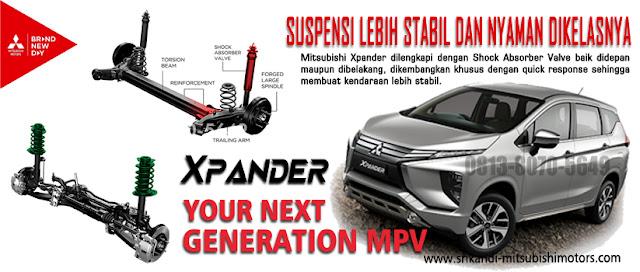 dengan suspensi McPherson Strut dan Independence Suspension membuat Mitsubishi Xpander lebih stabil