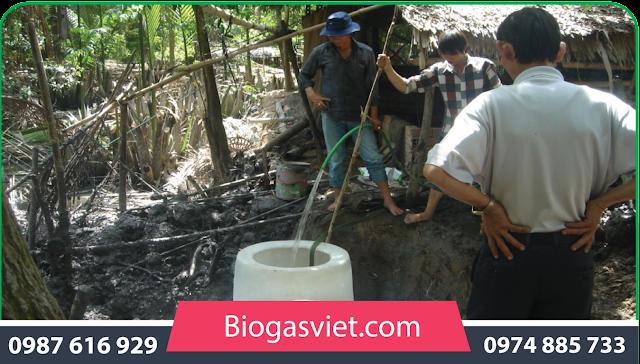 xử lý chất thải hầm biogas
