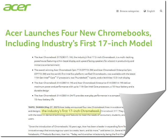 17.3-inch Acer Chromebook 317 First Look