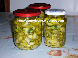 Zucchine trifolate sott'olio