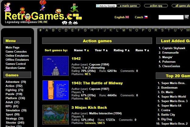 RetroGames.cz - Παίζουμε εκατοντάδες θρυλικά παιχνίδια μέσα από τον browser