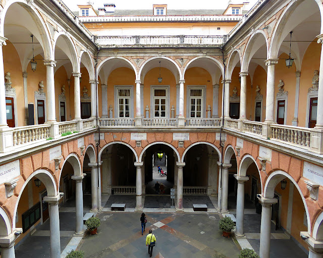 The courtyard of Palazzo Doria-Tursi, Via Garibaldi, Genoa