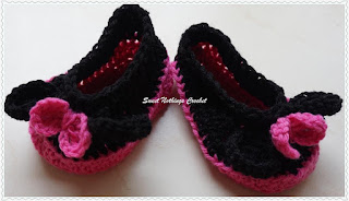 free crochet pattern for Minnie mouse booties