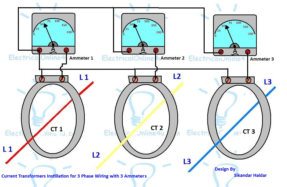[DIAGRAM_38IU]  3 Phase Current Transformer Wiring Diagram - Electricalonline4u | 3 Phase Current Transformer Wiring Diagram |  | Electricalonline4u