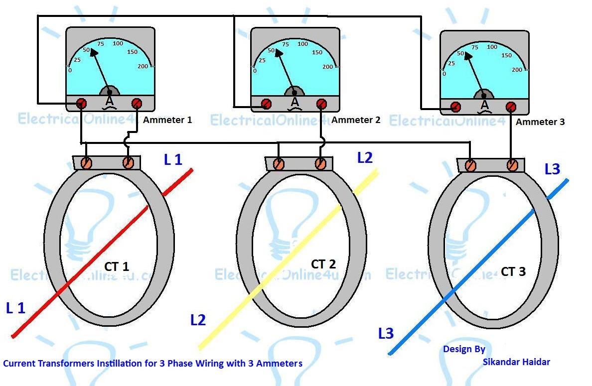 [SCHEMATICS_48EU]  3 Phase Current Transformer Wiring Diagram - Electricalonline4u | Wiring Diagram For Current Transformers |  | Electricalonline4u