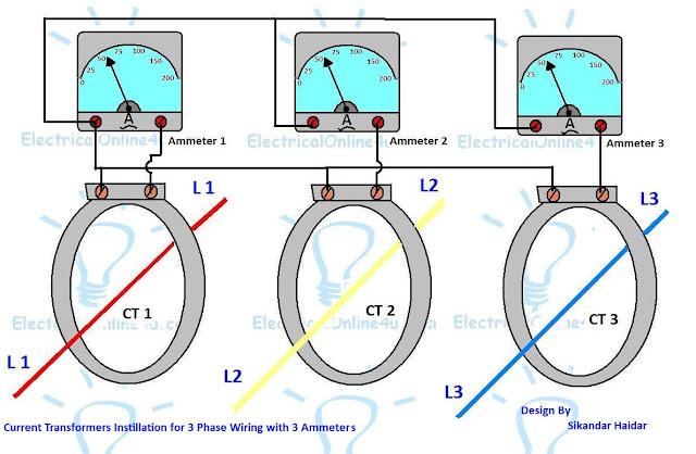 3 phase current transformer wiring diagram