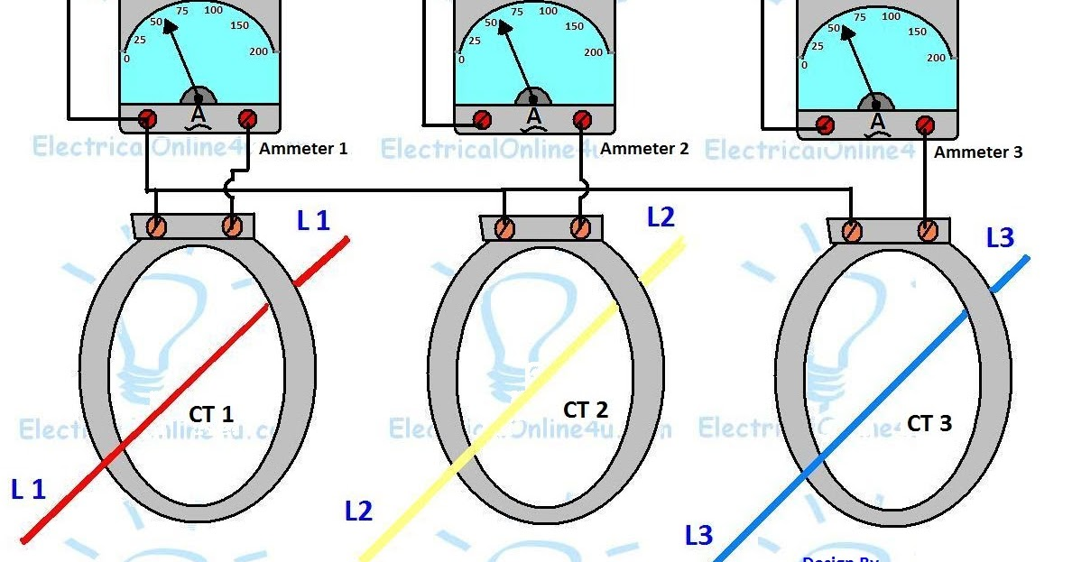 3 phase current transformer wiring diagram  electricalonline4u