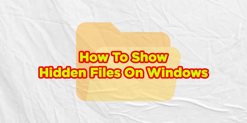 how to show hidden file in windows 10