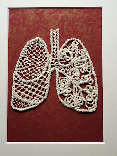 Anatomical lungs lace artwork