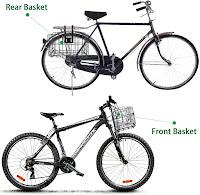 Folding Rear Bike Basket Wire Mesh Rust Proof