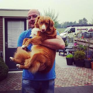 Foto met de liefste hond!