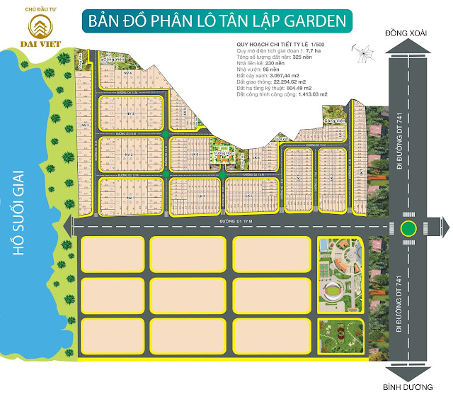 Khu dân cư Tân Lập Garden - Bình Phước