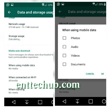How to stop whatsapp from auto-downloading pictures, Gifs and videos from groups or contacts to phone gallery.