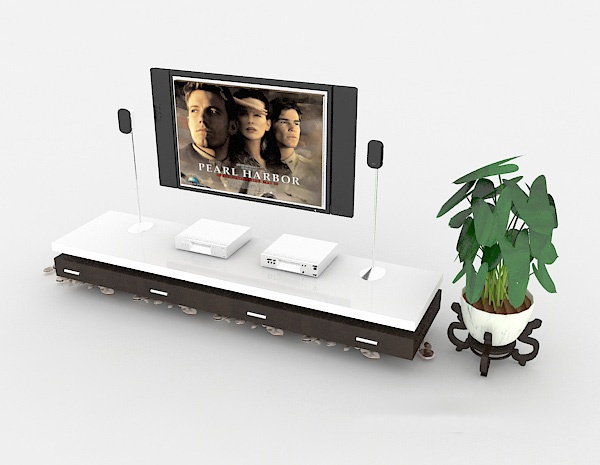 TV cabinet 3d model free 3ds max